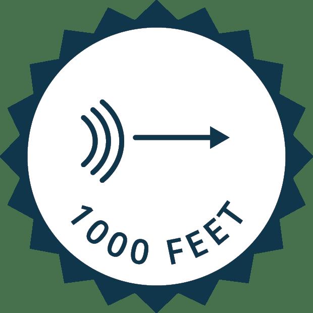 1000 ft radar range icon