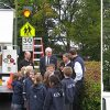 Unveiling of Carmanah's R829 solar LED school zone flasher at Glenlyon Norfolk School.
