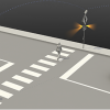 rendering of rectangular rapid flashing beacon example