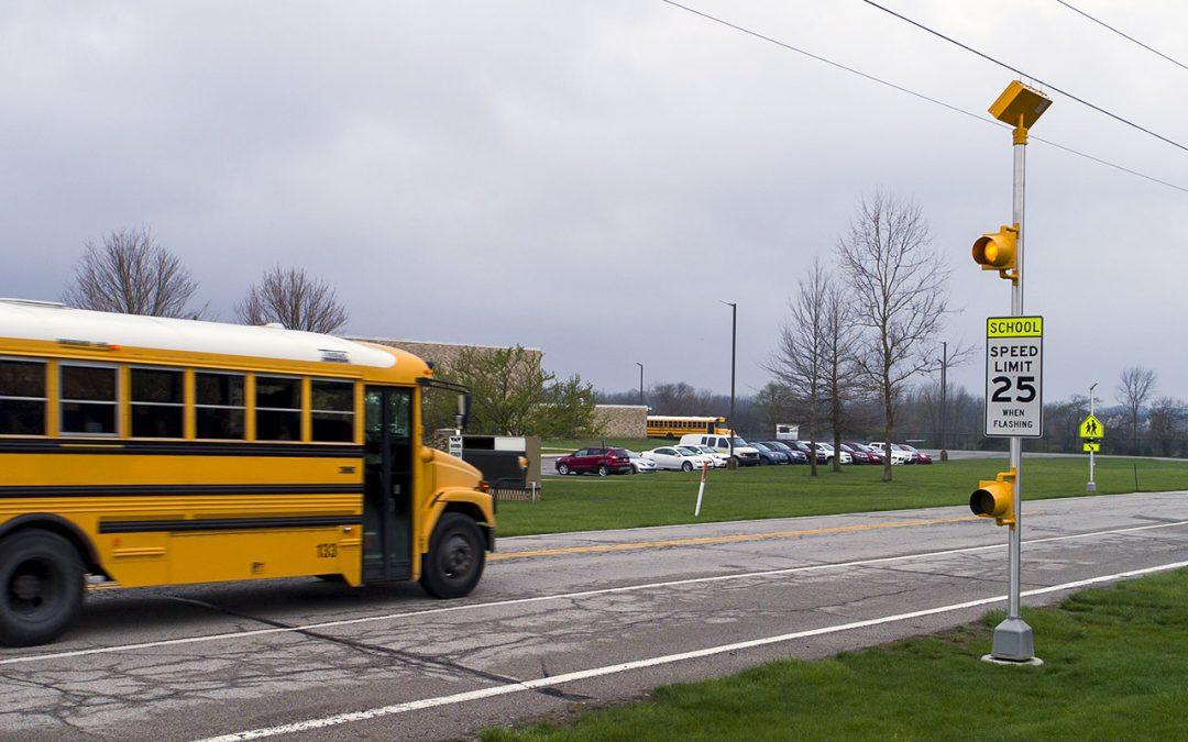 Flashing Lights Put in School Zones