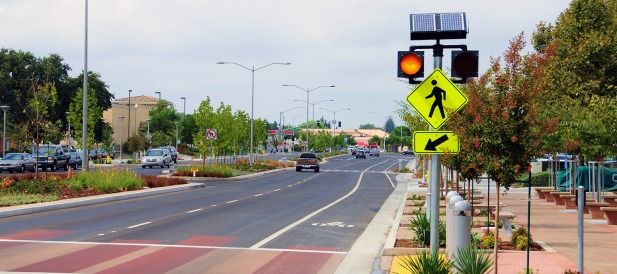 Carmanah Brings Integrated Solar LED Pedestrian Crossing to North America