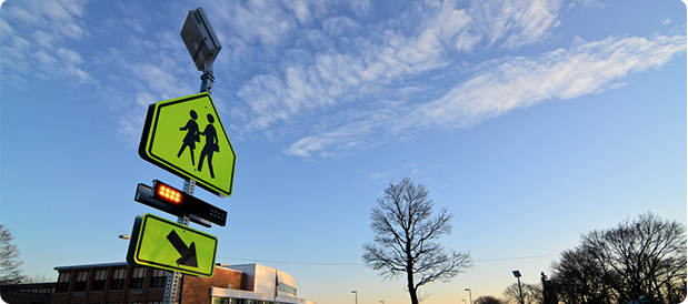 RRFBs improve school crossings in Des Plaines, Illinois