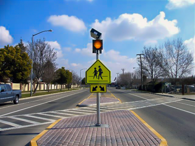 Carmanah Solar Area Lights and Flashing Beacons Increase Crosswalk Safety