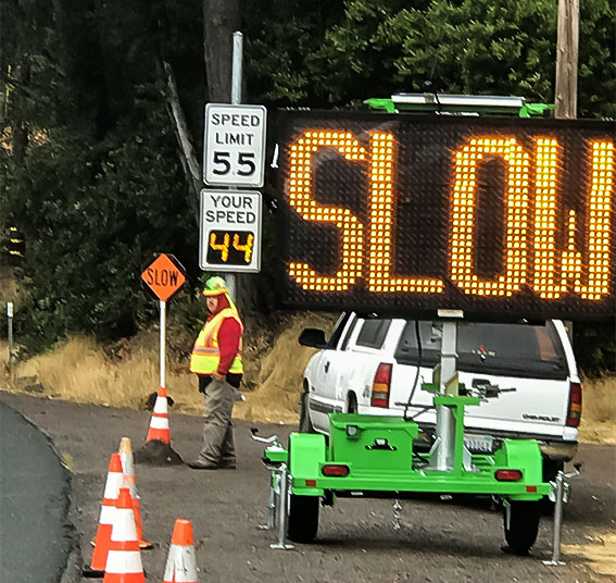 Radar Speed Sign Use in Work Zones on the Rise New Data Indicates