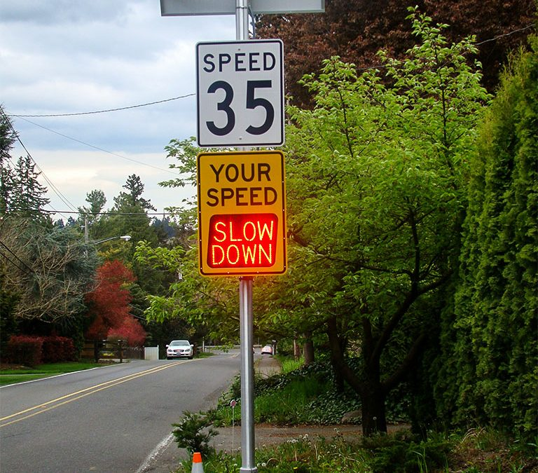 Portland's New Neighborhood Speed Reduction Program Employs Radar Speed Signs from Local Company