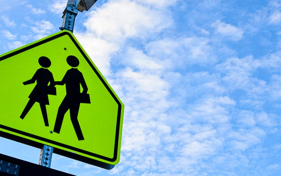 History of Fluorescent Yellow-Green School Zone Signs