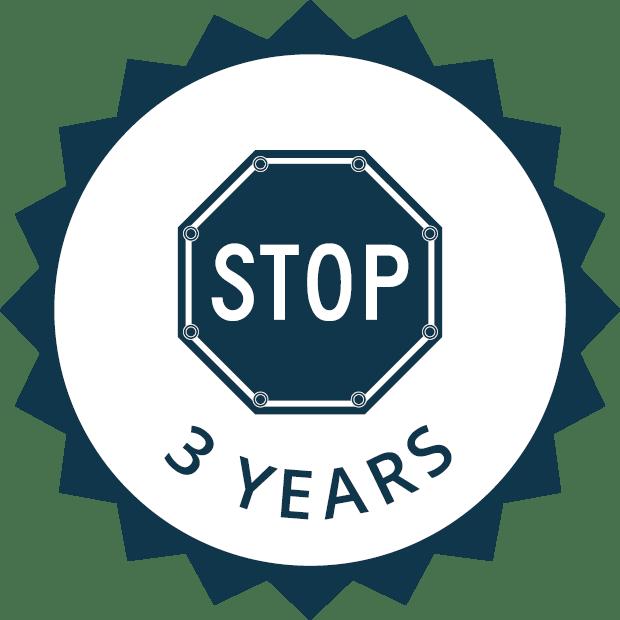 3 year sign warranty icon
