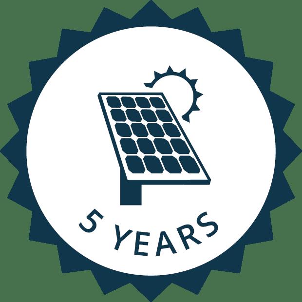5 year system warranty icon