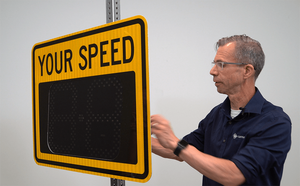 A more affordable, portable radar speed sign – coming soon to a neighborhood near you.