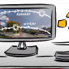 Solar simulation showing a site with sun path during Winter and Summer seasons