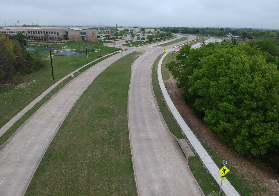RRFBs overcome high speeds and curves to keep youth safe in Midlothian, TX