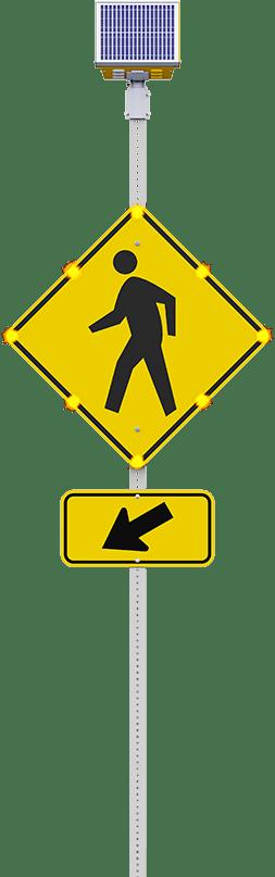 led crosswalk sign flashing
