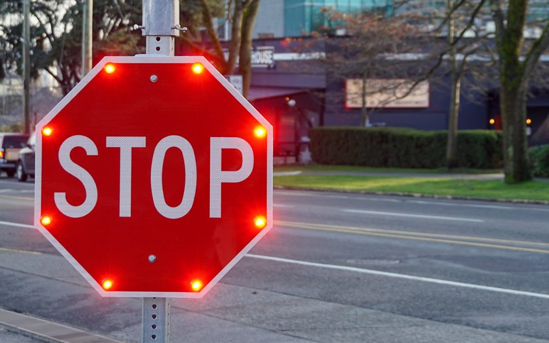 Where and when LED flashing signs work best