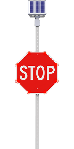 carmanah led enhanced stop sign flashing