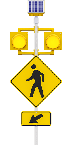 carmanah r820-e circular flashing crosswalk beacon