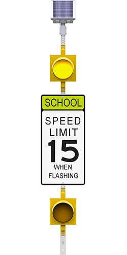 carmanah r829-e flashing school zone speed limit beacon