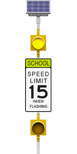 carmanah r829-f school zone speed limit flashing beacon system