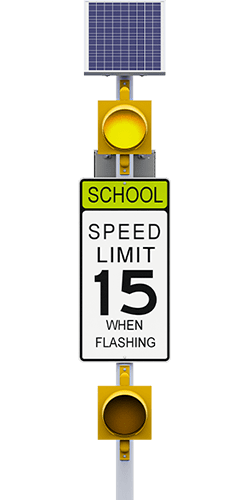 carmanah r829-g school zone speed limit flashing beacon system
