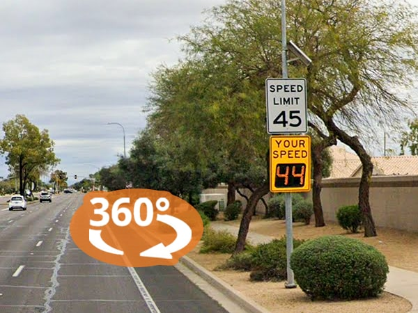 Virtual Product Tour: Radar Speed Signs in Chandler, Arizona