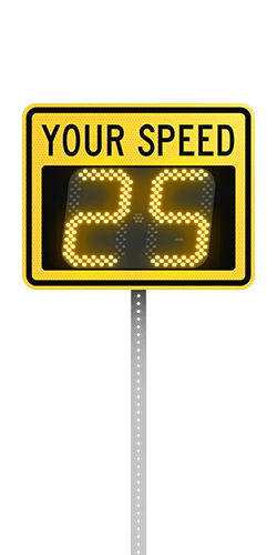 speedcheck-12 radar speed sign product front view