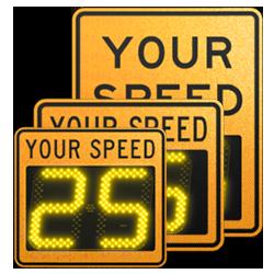 speedcheck-12 orange static signs