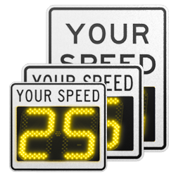 speedcheck-12 white static signs