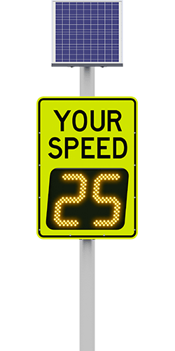 carmanah speedcheck-15 radar speed sign with 25 digits