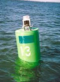 Model 701 on buoy in Rehoboth Bay