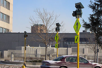 Carmanah R820 Solar Crosswalk Lighting System at government buildings