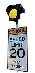 Carmanah's R829C Programmable School Zone Flasher.