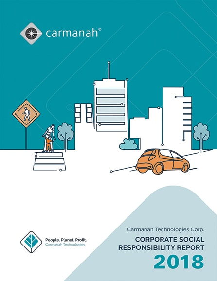 carmanah corporate social responsibility report 2018 cover