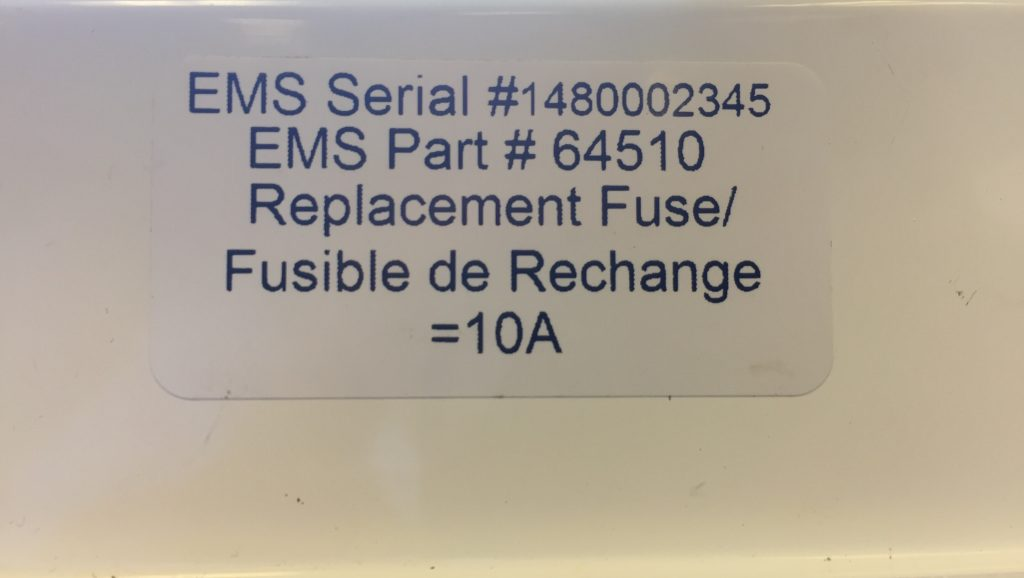 Gen 2 Energy Management System Serial Number is #1480002345
