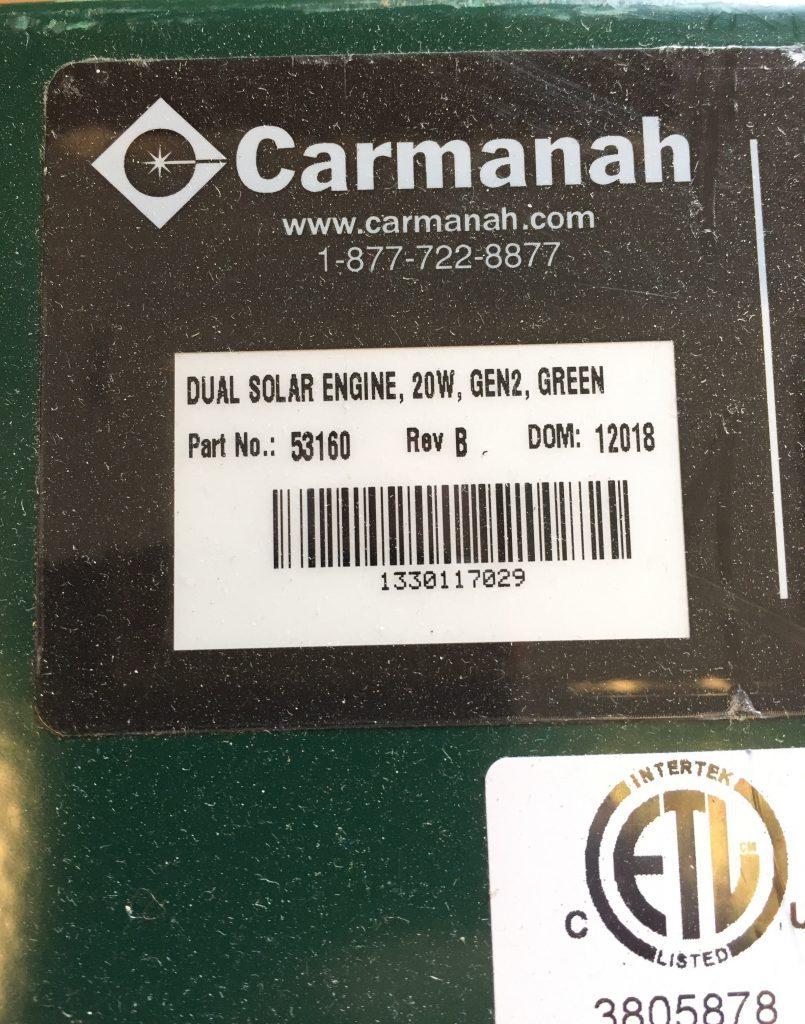 Gen 2 solar engine serial number