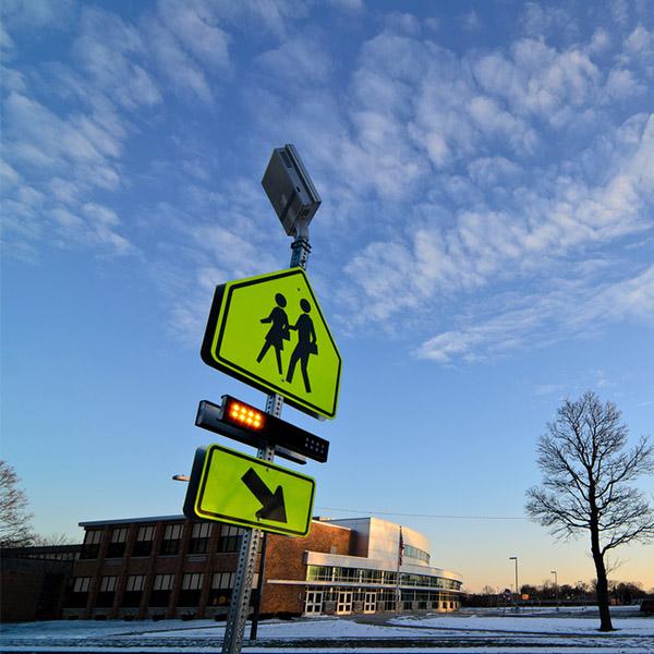 School Zone Safety Part 2: Rectangular rapid flashing beacons for crosswalks