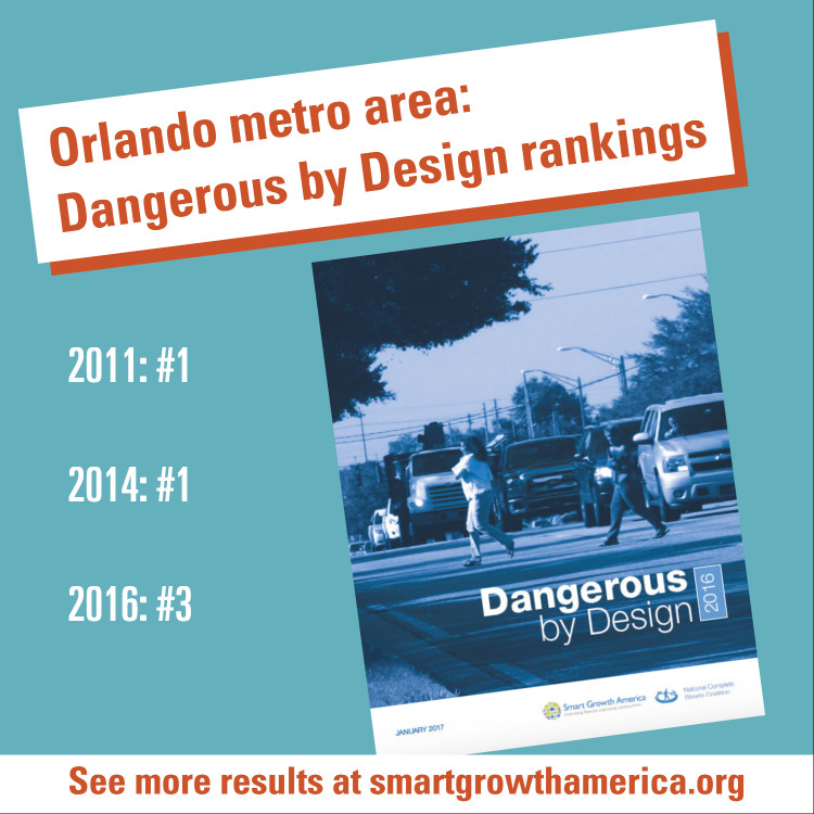 Orlando's Dangerous by Design rankings