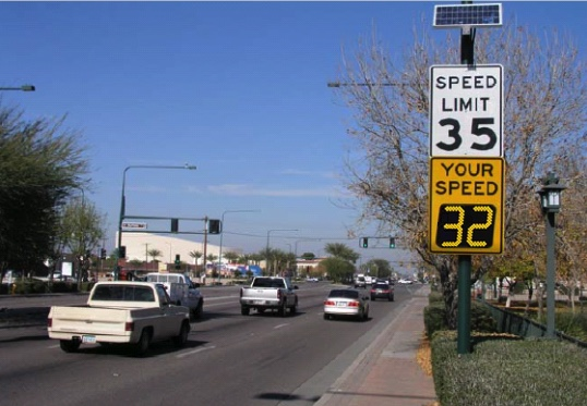 Chandler Arizona SpeedCheck Speed limit sign