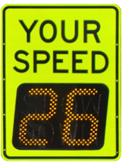 speedcheck radar speed sign with superior display, ultra clear contrast for digits make it easier to read