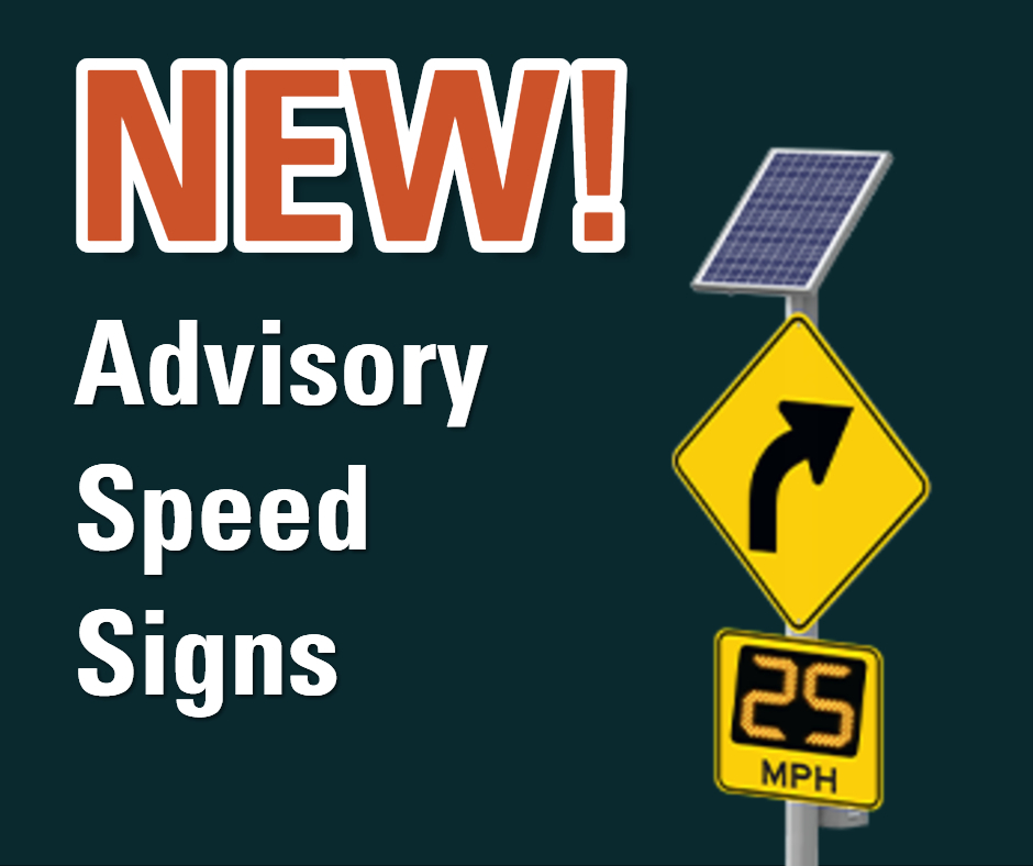 New advisory speed signs