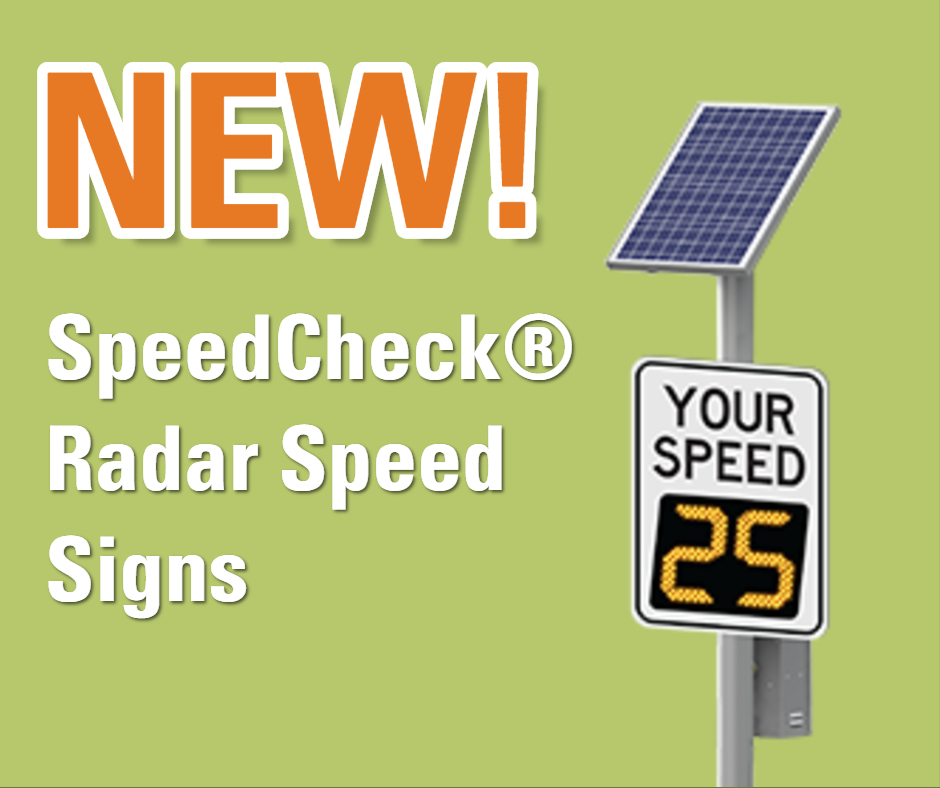 New SpeedCheck radar speed signs