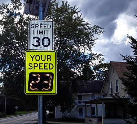 vtrans safe routes to school speedcheck radar sign