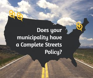 does your municipality have a complete streets policy graphic