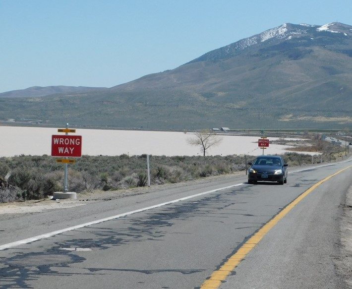 Wrong-Way Driver Flashing Beacons in Nevada