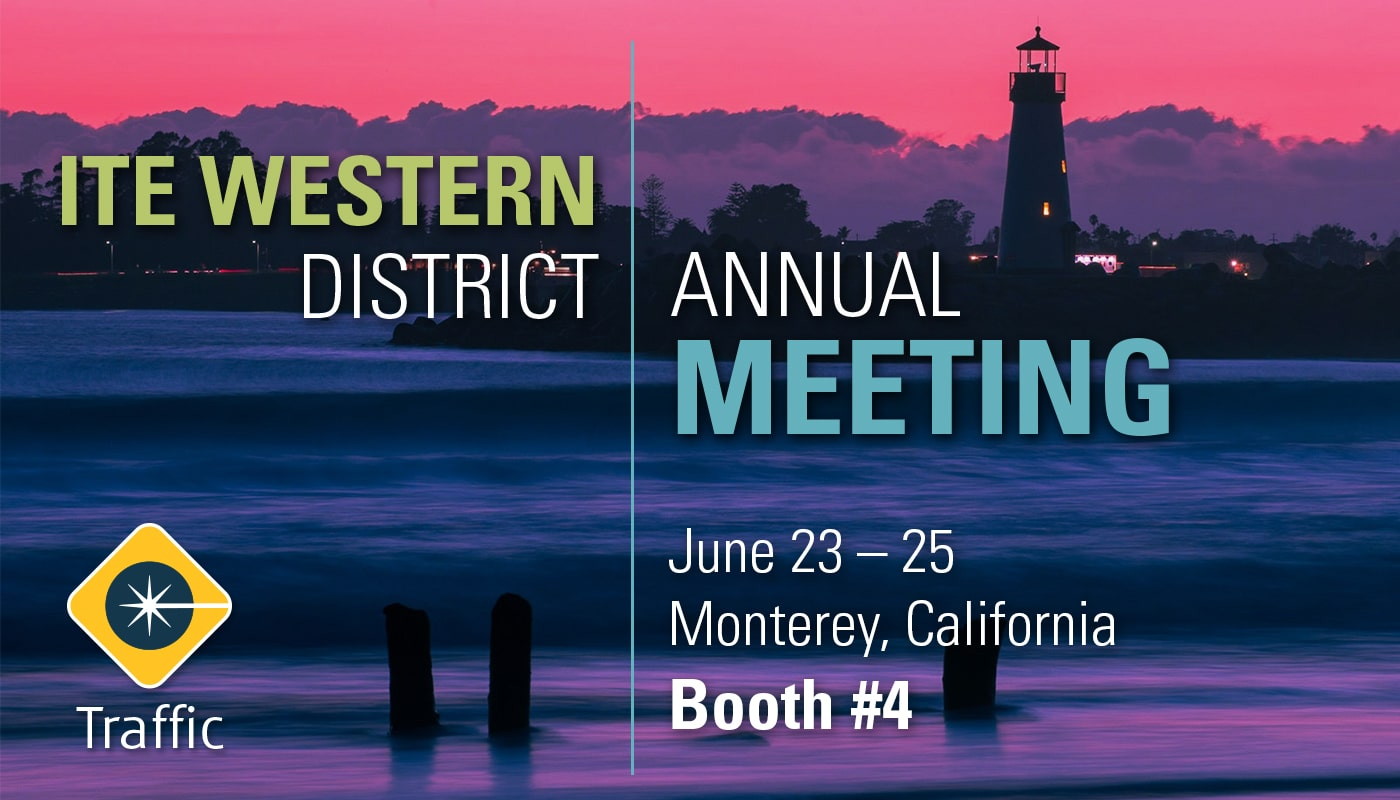 carmanah traffic attending ite western district annual meeting at booth 4 banner