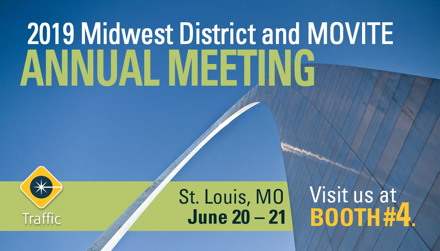 2019 midwest and movite annual meeting in st louis, missouri, with carmanah attending at booth 4