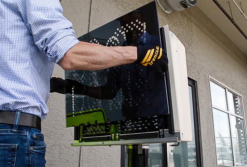 speedcheck radar speed sign easy display window replacement