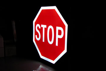 Carmanah's LED Illuminated Stop Sign