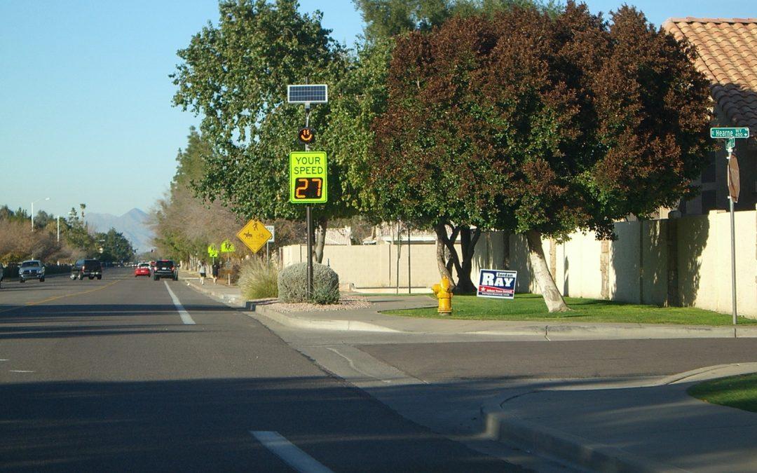 Using radar speed signs to effect lasting change on multimodal roadways