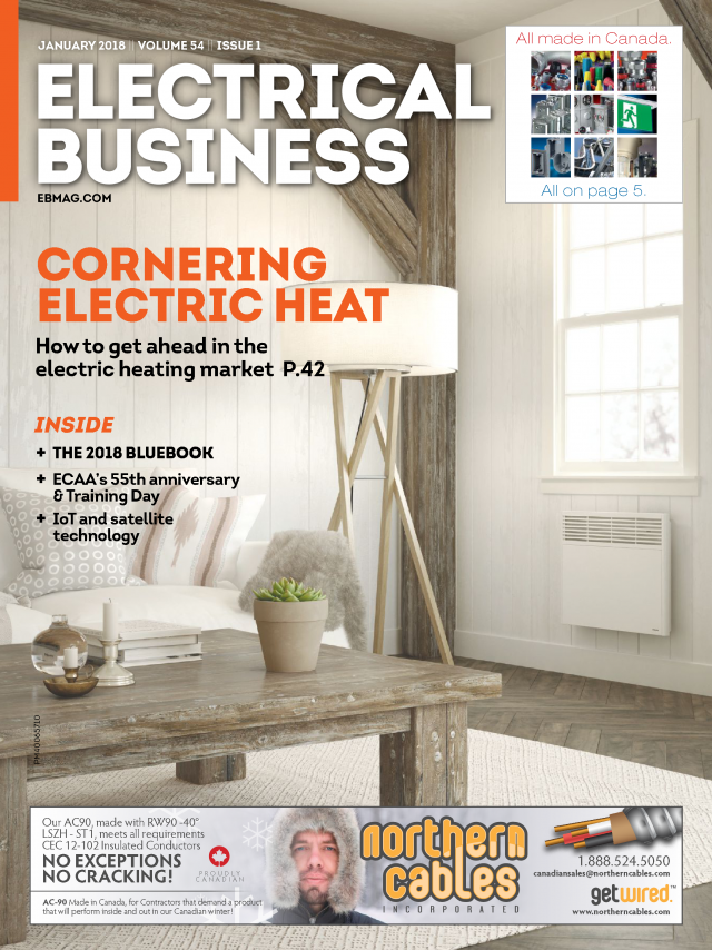 Cover of Electrical Business Magazine