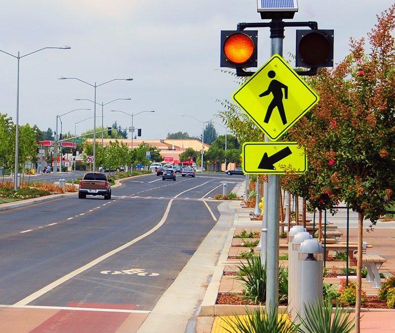 Circular Crosswalk Beacons