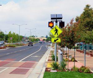 carmanah circular flashing crosswalk beacon banner